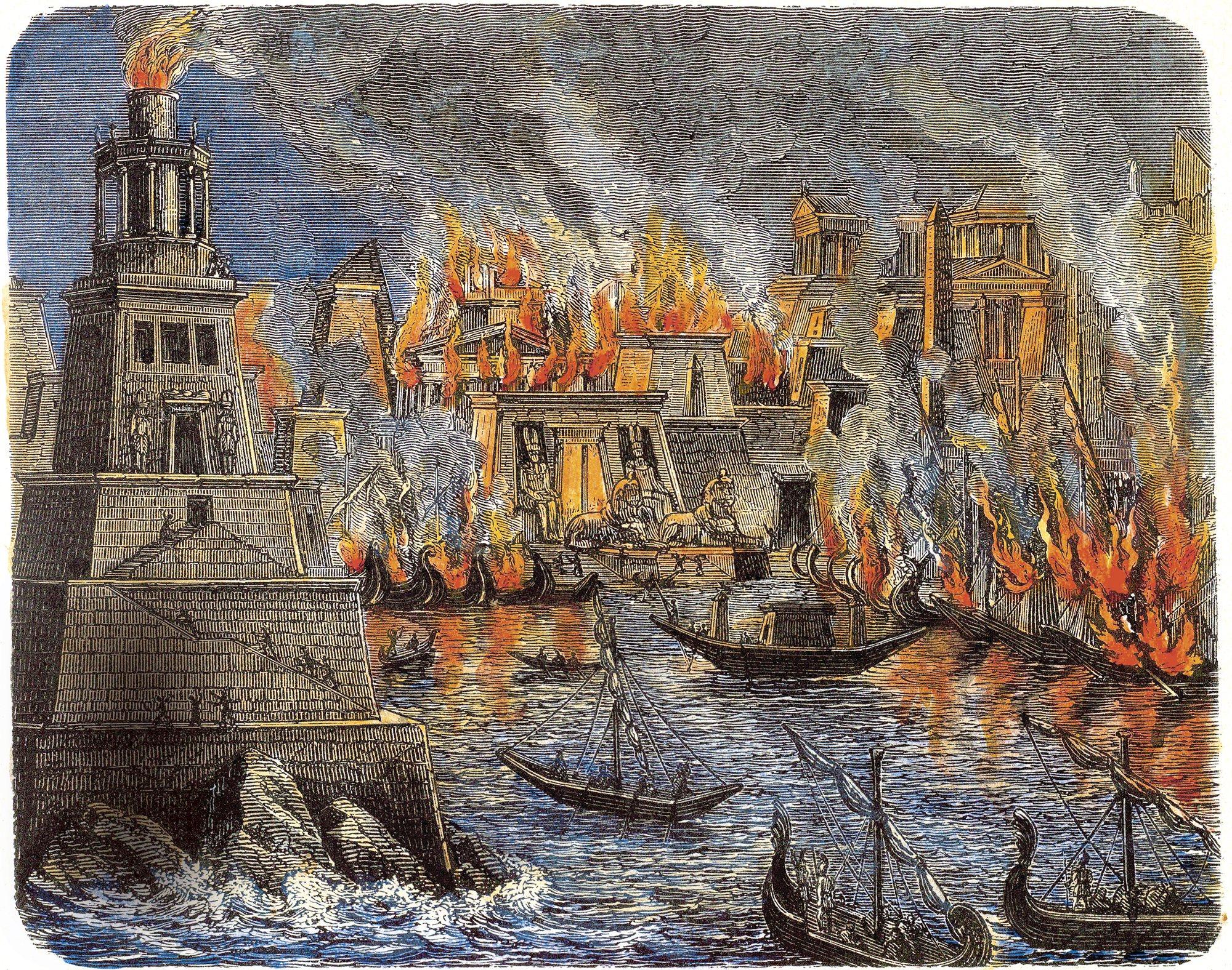 La Biblioteca de Alejandría, la destrucción del gran centro del ...