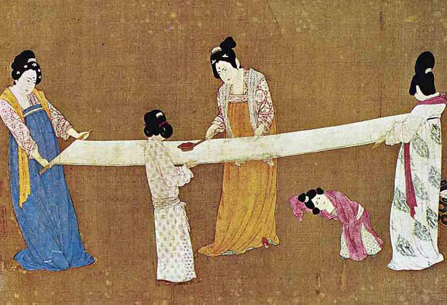 La elaboración de la seda en la antigua China