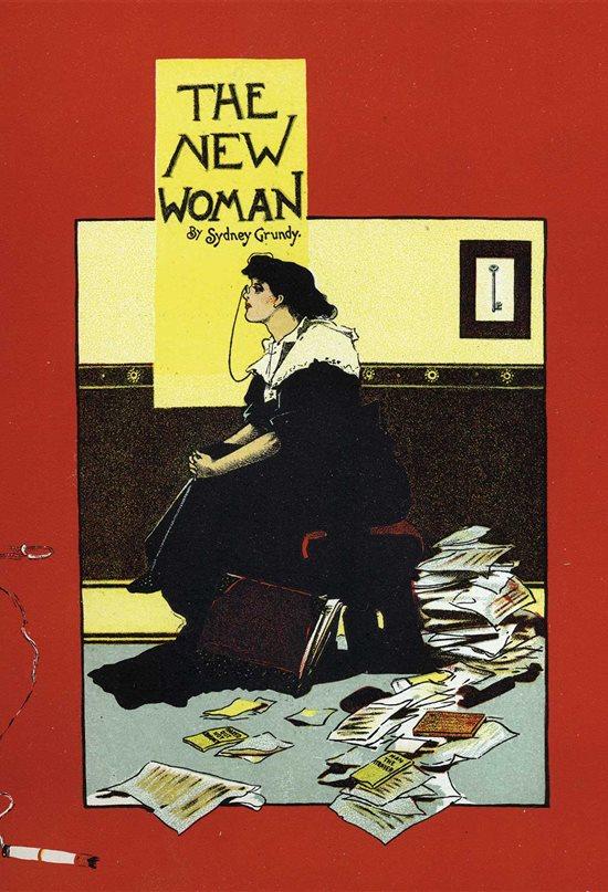Cartel para la obra de teatro La nueva mujer, de Sidney Grundy