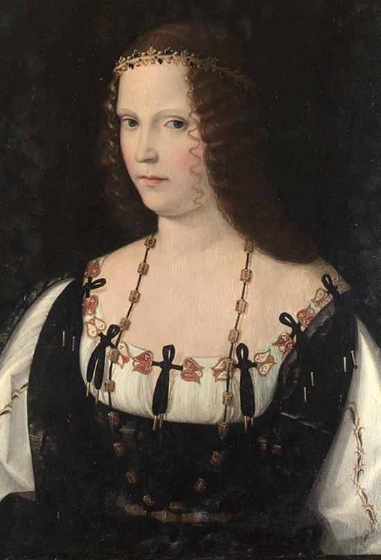 Retrato de Lucrecia Borgia realizado entre 1520 y 1530