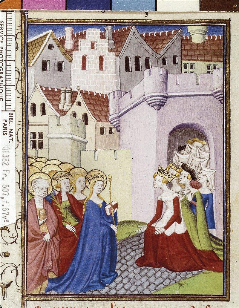 Christine de Pizan, Rectitud, Razón y Justicia inauguran la ciudad de las damas