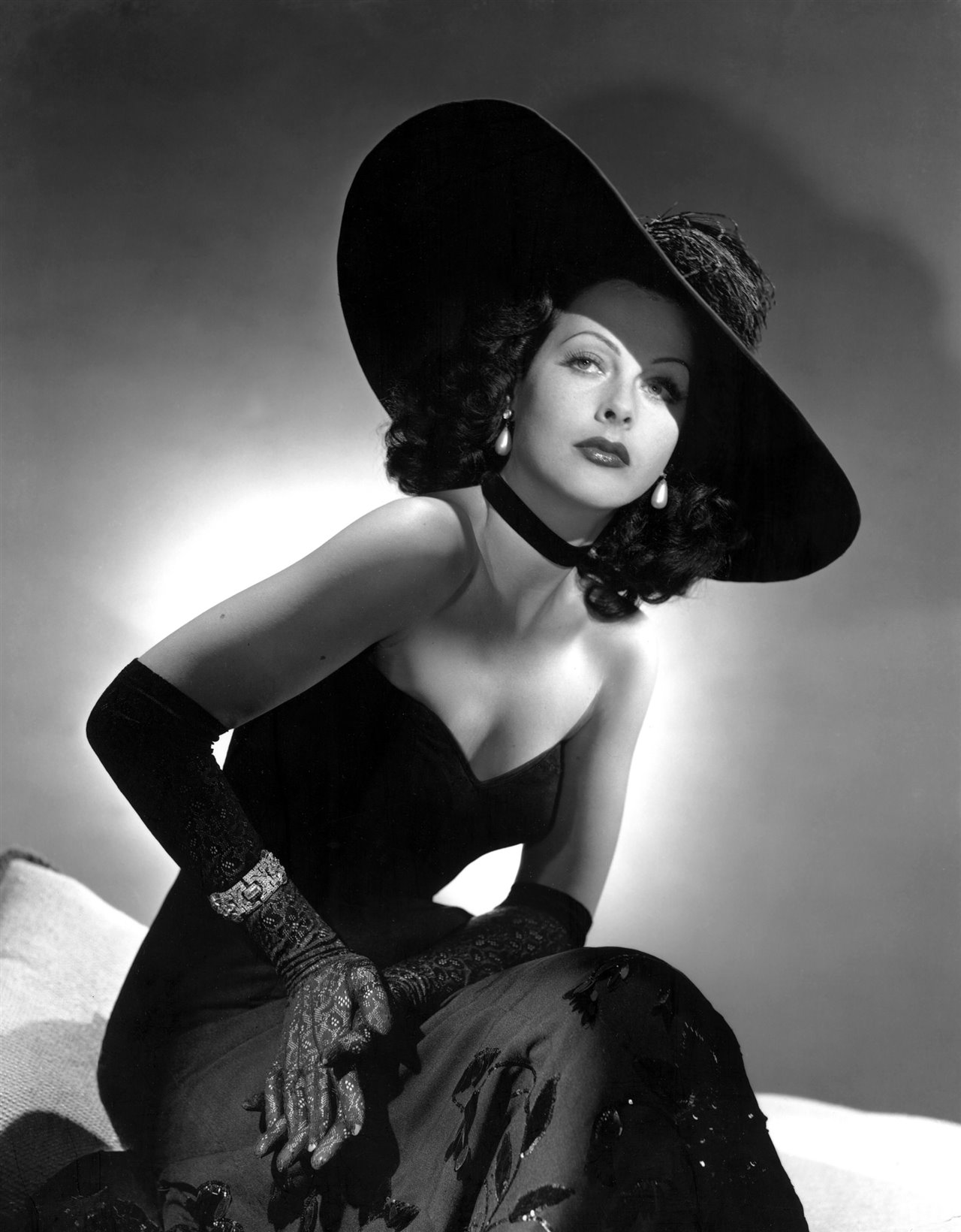 Hedy Lamarr en blanco y negro