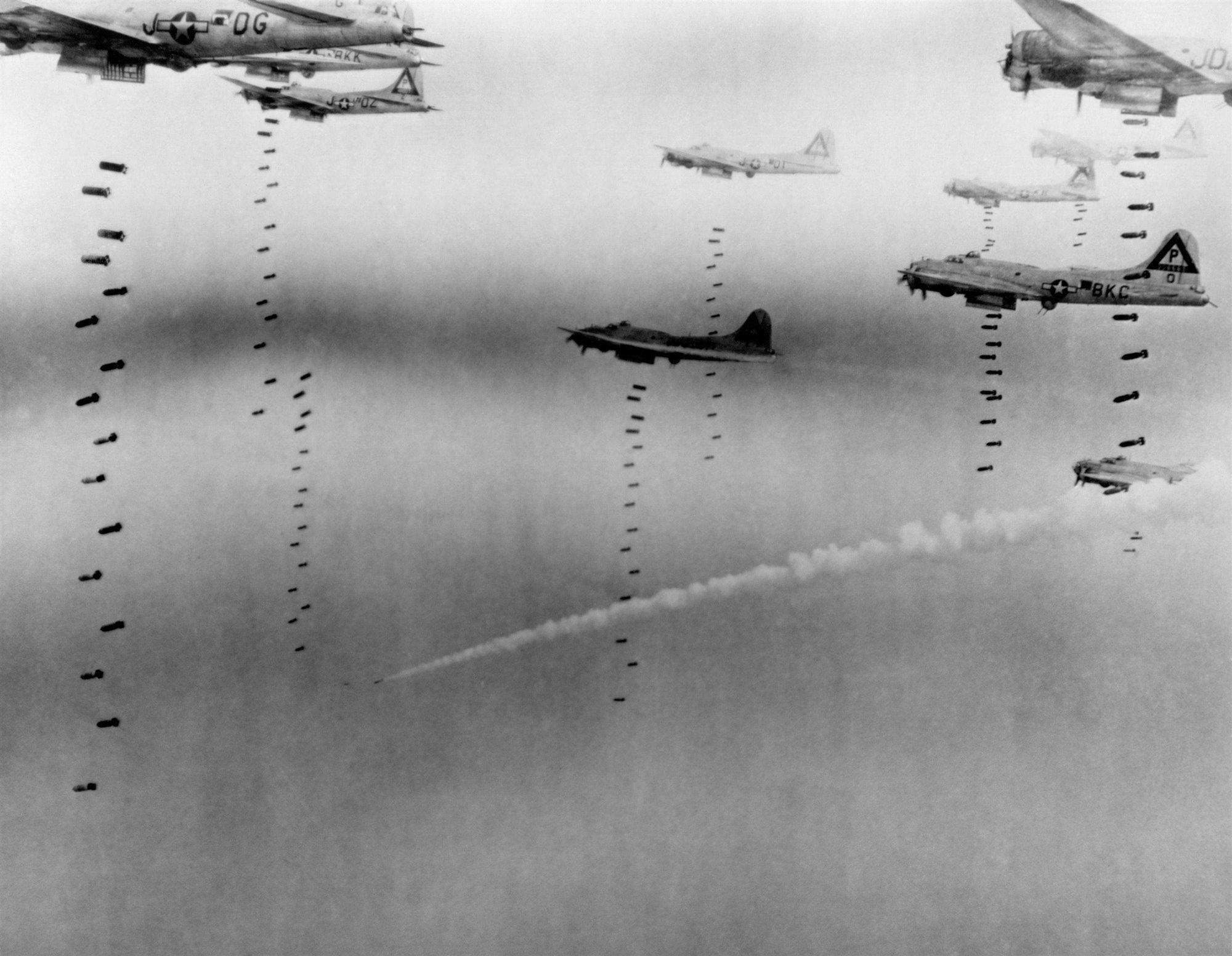 El bombardeo aliado