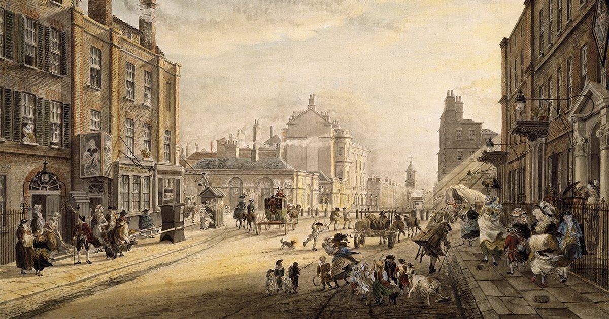 La acera, una reinvención del siglo XVIII
