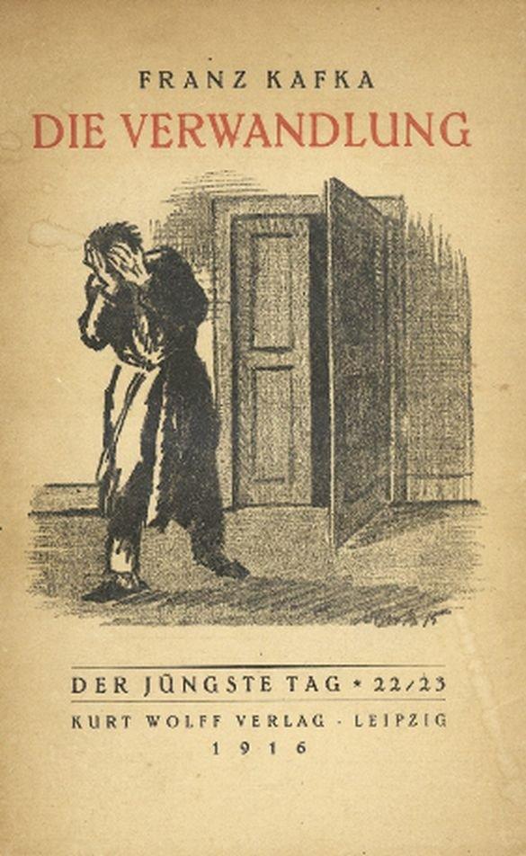 """La obra más célebre de Franz Kafka, """"La Metamorfosis"""", fue publicada con esta portada por primera vez en Leipzig, en 1916."""