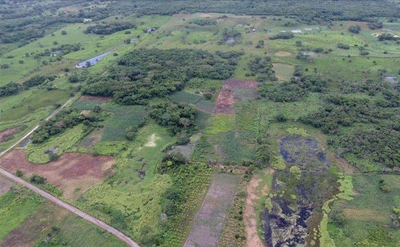 Vista aérea de Aguada Fénix sin la tecnología LiDAR, al natural.