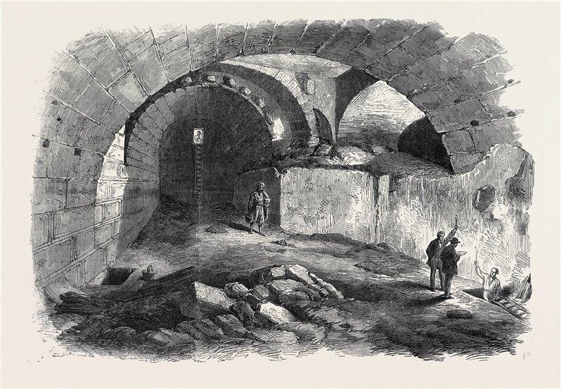 Dibujo de las exploraciones en Jerusalén realizado en 1869