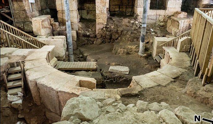 Las excavaciones realizadas por la Autoridad de Antigüedades de Israel se realizaron en los túneles debajo del muro.
