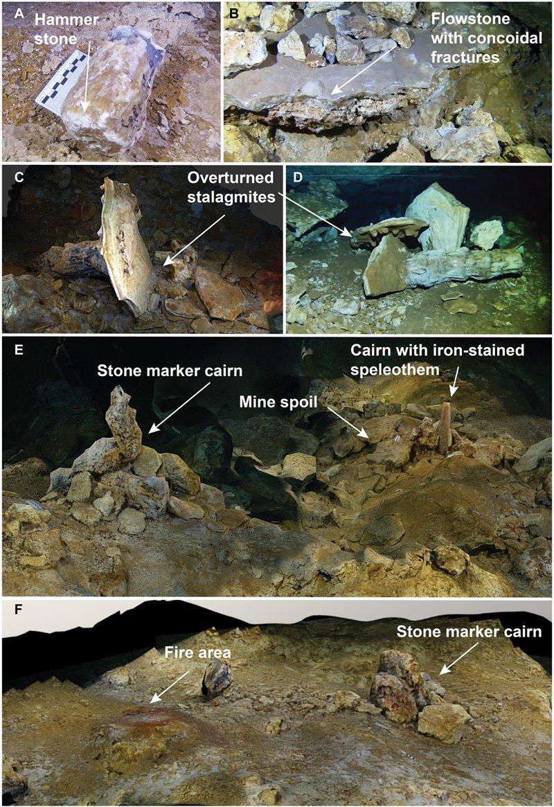 Hallazgos realizados en las minas de la Edad del Hielo