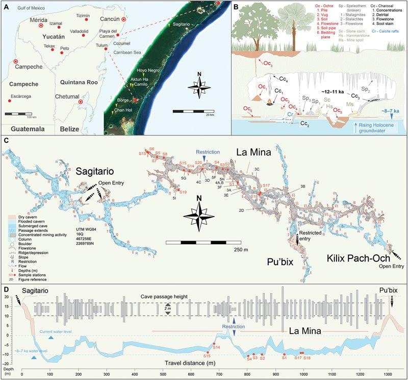 Mapa del sistema de cuevas