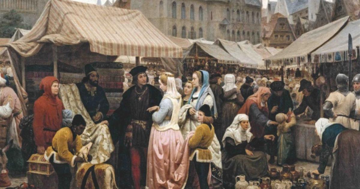 Ir de tiendas en la Edad Media, entre la necesidad y el lujo
