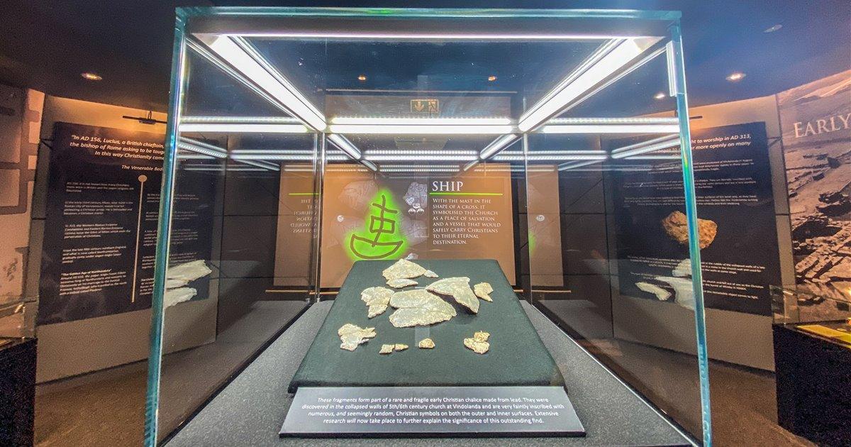 Descubren los restos de un cáliz cristiano en Vindolanda