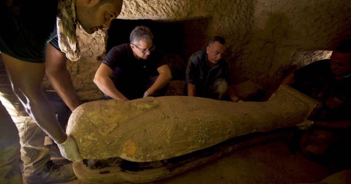 Descubren 13 sarcófagos en Saqqara