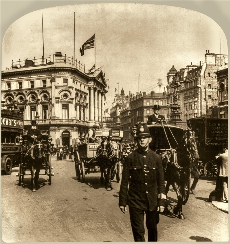 Piccadilly Circus en 1895