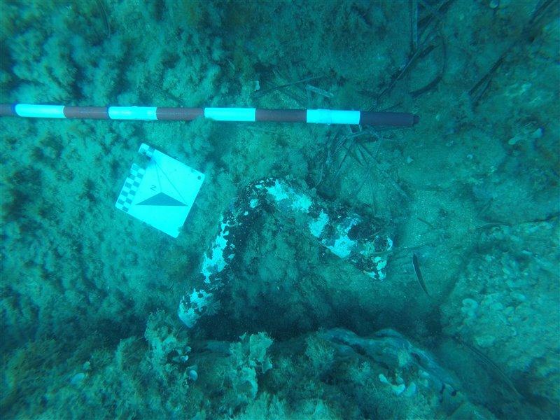 Parte de una bomba de achique romana.