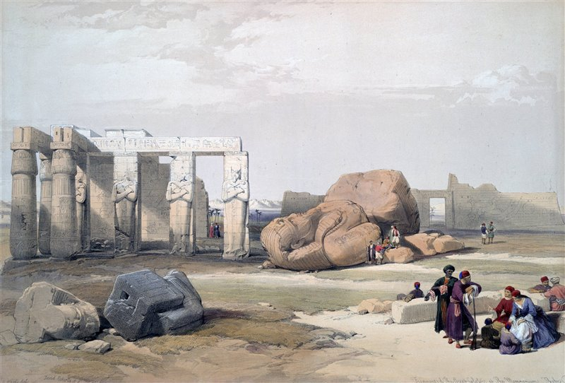 El Ramesseum, en la orilla occidental de Luxor. David Roberts.