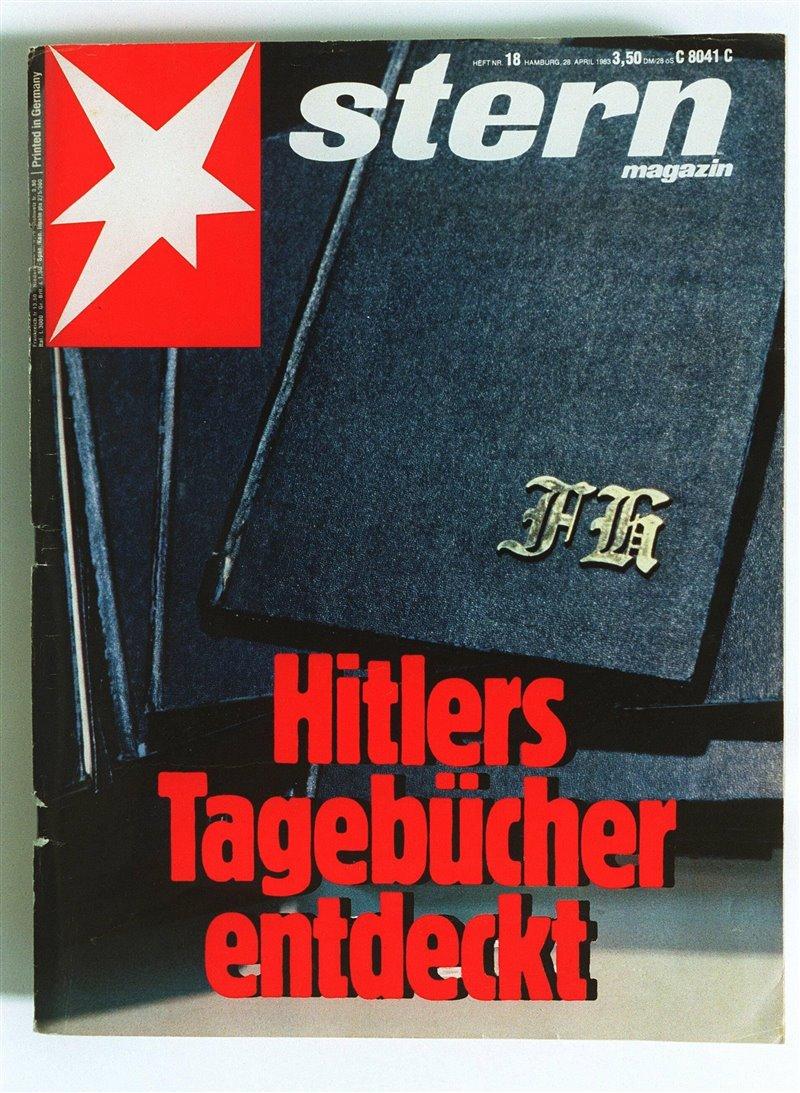 Esta fue la portada de la prestigiosa revista alemana Stern del número en el que se publicaba la información de que Konrad Kujau estaba en posesión de los diarios de Hitler.