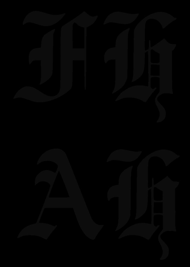 Las iniciales FH (en la parte superior) que Kujau usó por error en las portadas del diario, en lugar de AH (en la parte inferior).