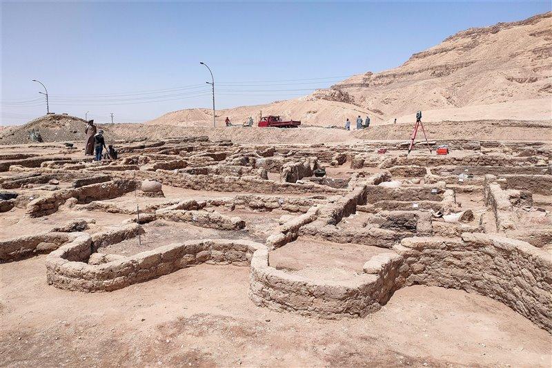 Vista general de las excavaciones en la ciudad.