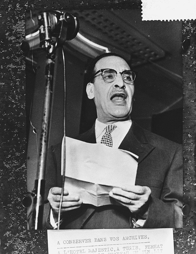 Ferhat Abbas, líder del movimiento que culminó en el Manifiesto del Pueblo argelino, en una imagen de 1959, cuando Argelia todavía luchaba por su soberanía.