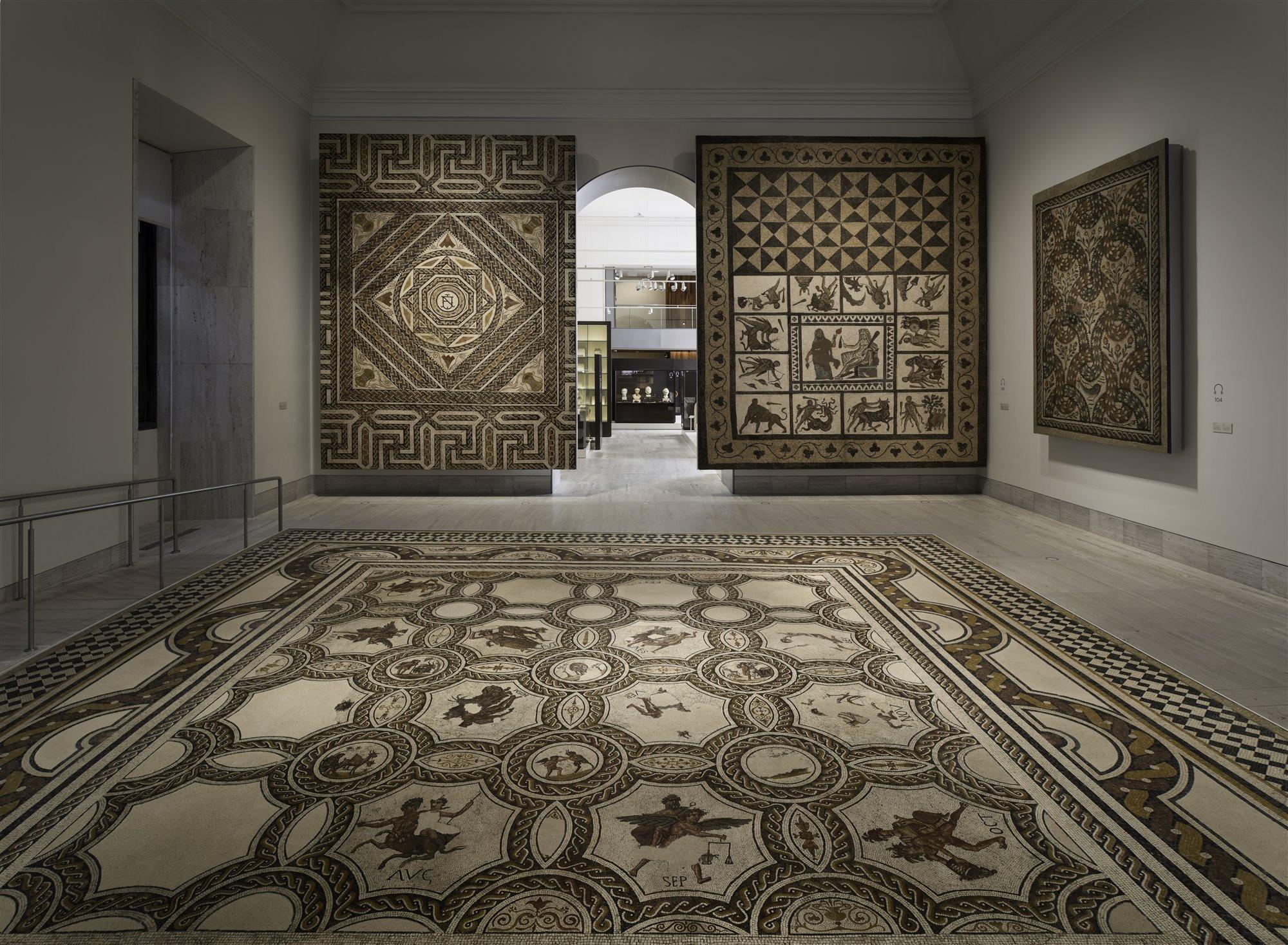 La sala de los mosaicos romanos